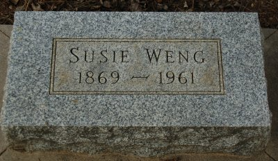 Susie Weng, 1869-1961, Hygiene Cemetery, Longmont, CO