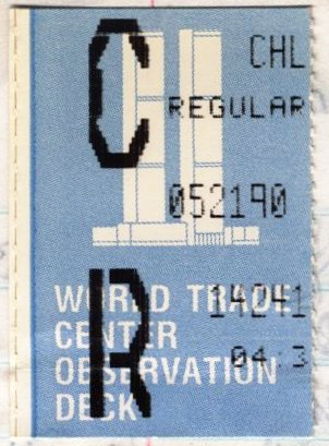 World Trade Center observation deck ticket stub